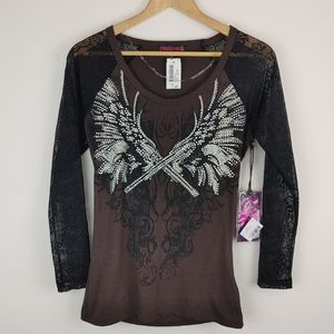 ROCK&ROLL COWGIRL | Embellished Long Sleeve Shirt